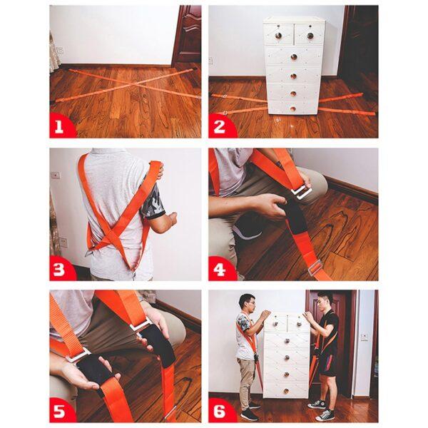 Non-Slip Furniture Moving Strap Wrist/Shoulder Dolly Forearm Forklift Lifting Moving Strap Transport Belt Carry Cords Mover Rope