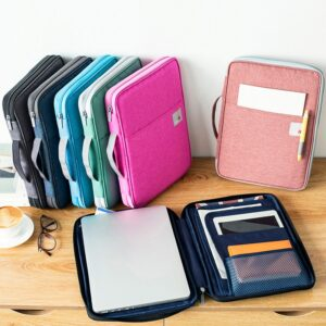 Multi-functional A4 Document Bags Filing Pouch Portable Waterproof Oxford Cloth Organized Tote For Notebooks Pens Computer Stuff