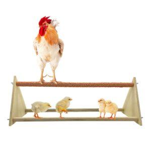 Chicken Perch Chicken Wood Stand Chicken Toy For Hens Handmade Chicken Swing Bird Perch Stand Toy For Large Bird Parrot Hens