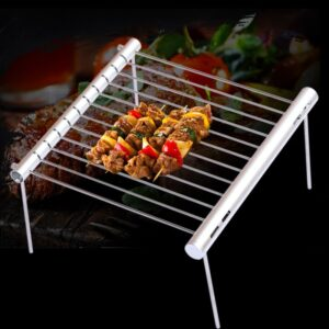 Portable Stainless Steel BBQ Grill Folding BBQ Grill Mini Pocket BBQ Grill Barbecue Accessories For Home Park Use