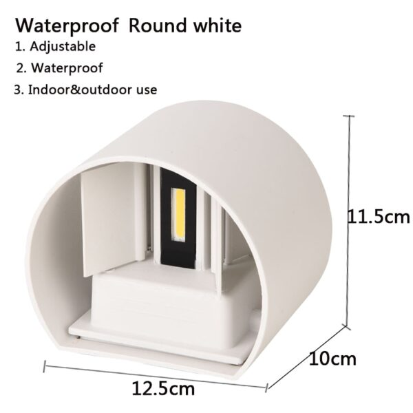 IP65 LED waterproof wall lamps 12W indoor and outdoor adjustable wall light courtyard porch corridor bedroom wall sconce