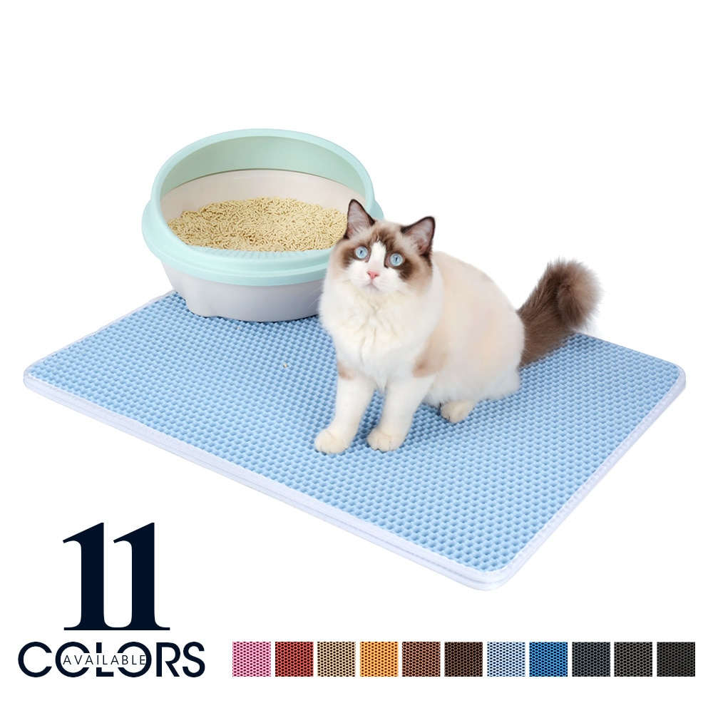 Waterproof Color Pet Cat Litter Mat Double Layer Non-slip Cat Bed Pad Toilet For Cats House Clean Trapping Pets Litter Box Mat