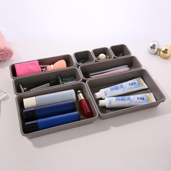 8PCs Home Drawer Organizer Box Storage Trays Box Office Storage Kitchen Bathroom Cupboard Jewelry Makeup Desk Organization