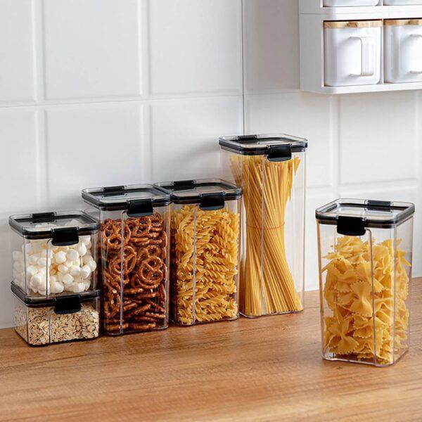 700/1300/1800ML Food Storage Container Plastic Kitchen Refrigerator Noodle Box Multigrain Storage Tank Transparent Sealed Cans