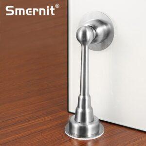 Magnet Door Stopper Zinc Alloy Door Stop Magnetic Door Holder Toilet Glass Lengthen Doorstop Furniture Hardware Home Improvement