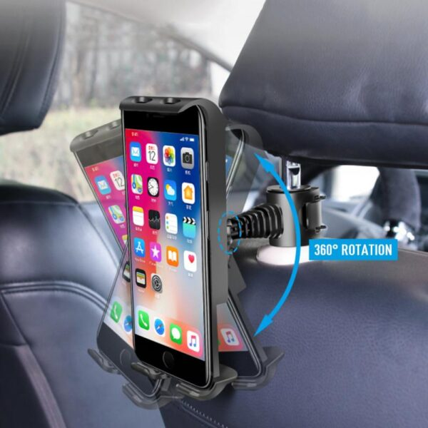 Universal Alloy Car Back Seat Smart Phone Tablet Holder Bracket Back Seat Phone Holder Car Bracket For iPad Car Accessories