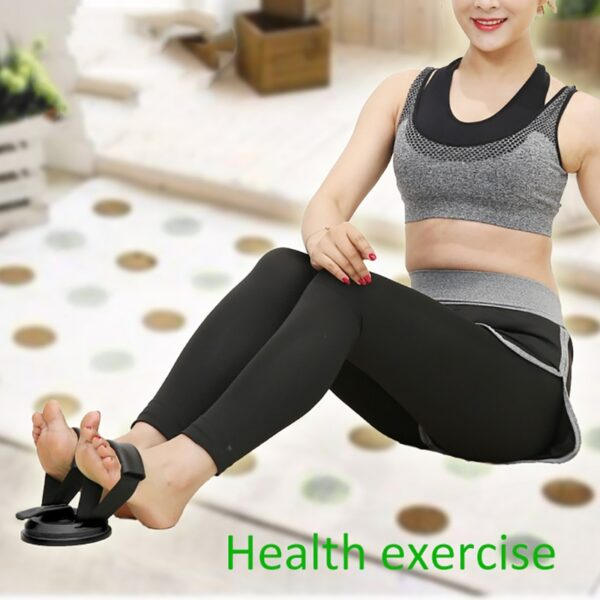 Fitness Suction Cup Sit-Up Cushion Sit Up Stand Bars Abdominal Core Strength Muscle Training Home Gym Body Shaping Building Bar