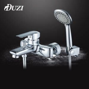 Chrome Bathroom Shower Faucets Set Waterfall Restroom Bathtub Fixture Cold And Hot Water Wall Mounted Bath Rain Shower Mixer Set