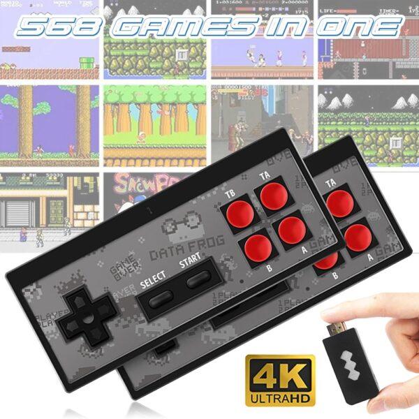 Handheld Game Console Childhood Retro Mini Classic 4K TV AV/HDMI 8 Bit 568/600 Video Game Console Handheld Gaming Player Gift
