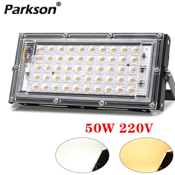 50W LED Flood Light AC 220V 230V 240V Outdoor Lighting Floodlight Spotlight IP65 Refletor LED Projector Street Light Exterior