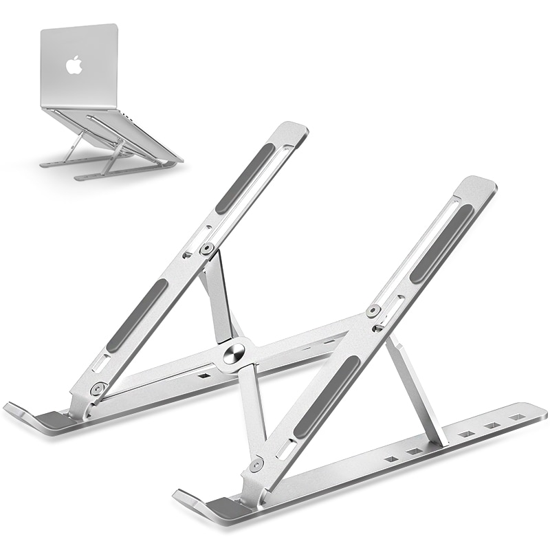 Portable Laptop Stand Aluminium Foldable Notebook Support Laptop Base Macbook Pro Holder Adjustable Bracket Computer Accessories