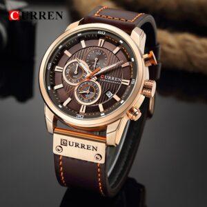 CURREN 8291 Luxury Brand Men Analog Digital Leather Sports Watches Men's Army Military Watch Man Quartz Clock Relogio Masculino