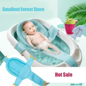 Infant Adjustable Bath Tub Pillow Seat Mat Cross Shaped Non-slip Baby Bath Net Mat Kids Bathtub Shower Cradle Newborn Bed Seat