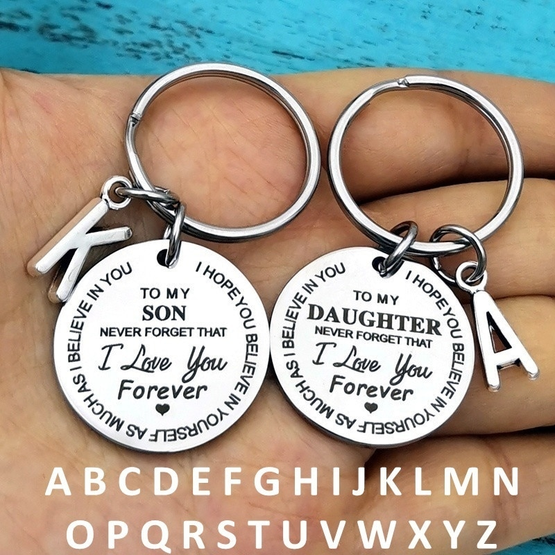 """""""To My Son/Daughter I Love You Forever""""Inspirational Gift Keychain Best Father Mother Idea for Son/Daughter Stocking Stuff Gifts"""