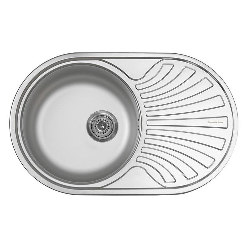 Kitchen Sinks Zigmund & Shtain Kreis OV 780.8 linen Home Improvement Kitchen Fixture Washing wash basin sink