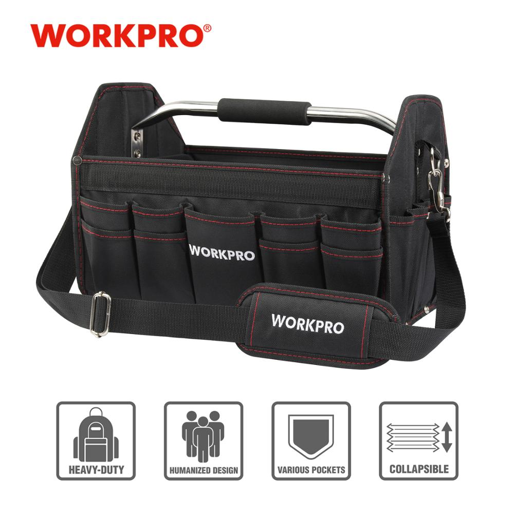 "WORKPRO 16"" Tool Bag Organizer Tool Storage Bag Tool Kits Shoulder Bag Handbag 600D Polyester Foldable Bag"