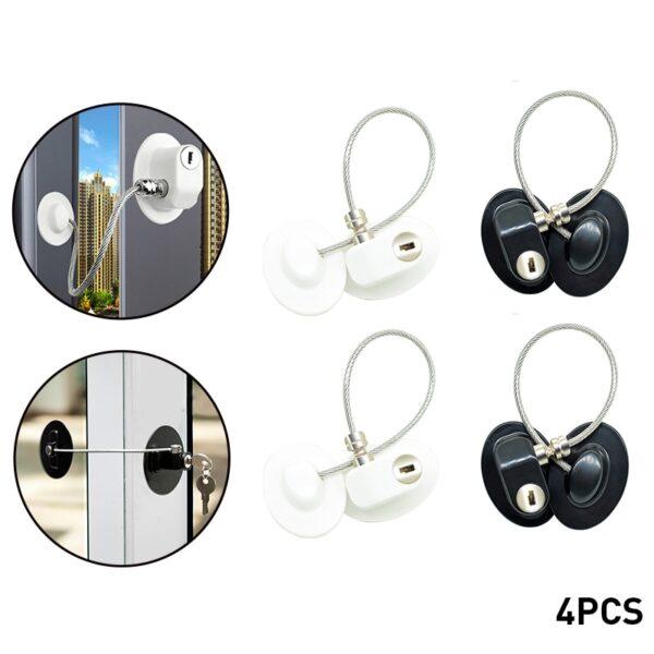 4/8Pcs/Set Window Locks Children Protection Lock Stainless Steel Window Limiter Baby Safety Infant Security Child Window Lock