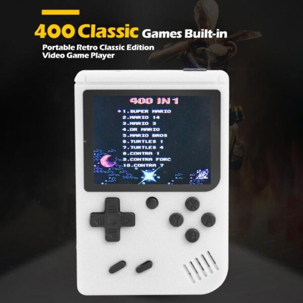 Handheld Video Games Console Built-in 400 Retro Classic Games 3.0 Inch Screen Portable 8 Bit Gaming Player Mini Pocket Gamepads