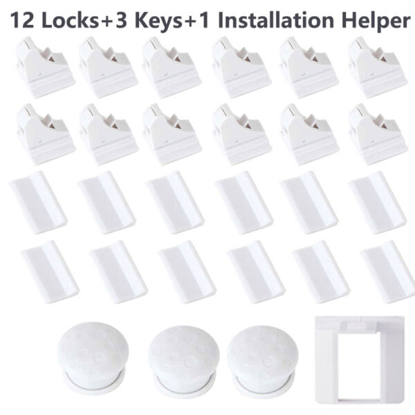 Magnetic Child Lock Baby Safety Baby Protections Cabinet Door Lock Kids Drawer Locker Security Invisible Locks