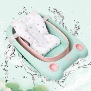 Newborn Bathtub Safety Mat Baby Shower Portable Air Cushion Bed Baby Bath Non-Slip Pad Newborn Security Support Soft Cushion/Mat