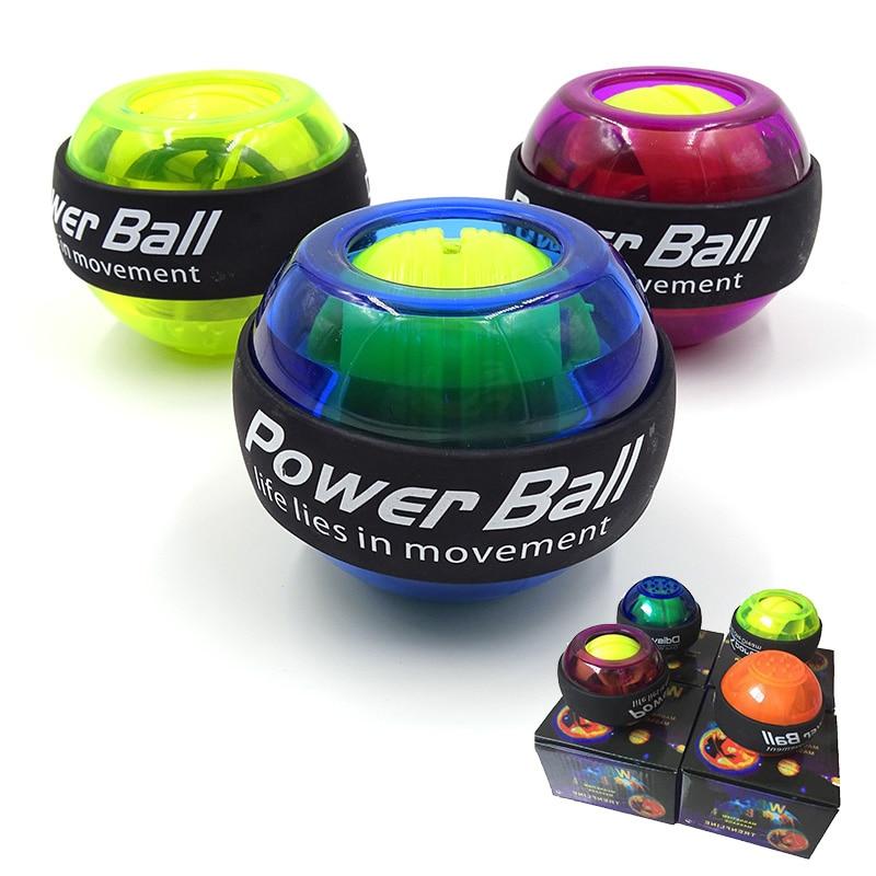 LED Wrist Ball Trainer Gyroscope Strengthener Gyro Power Ball Arm Exerciser Exercise Machine Gym Fitness Equipment