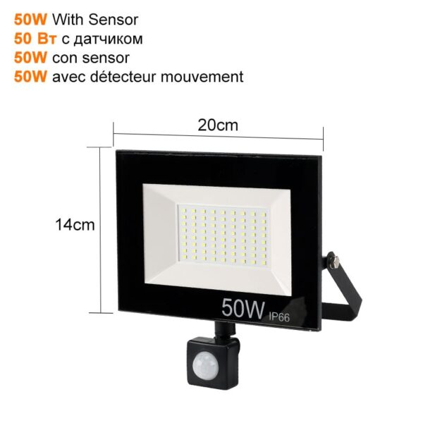 PIR Motion Sensor LED Flood Light 10W 30W 50W Outdoor Floodlight 220V 240V Waterproof Led Spotlight for Garden Wall Street Light