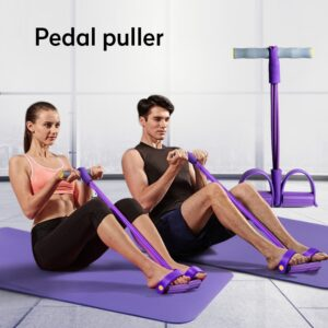Fitness Resistance Bands Exercise Equipment Elastic Sit Up Pull Rope Gym Workout Bands Sports Training 4 Tube Pedal Ankle Puller