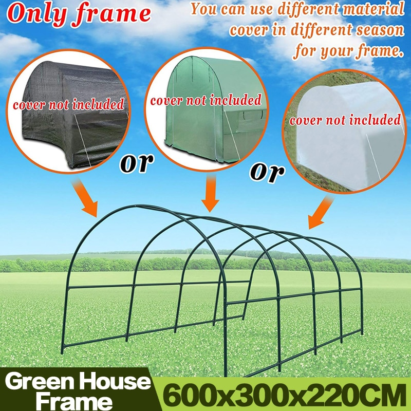 AULAYSED 600x300x220CM Garden Multi-use Support Arch Frame for Climbing Plants/Flowers/Vegetables Greenhouse Frame