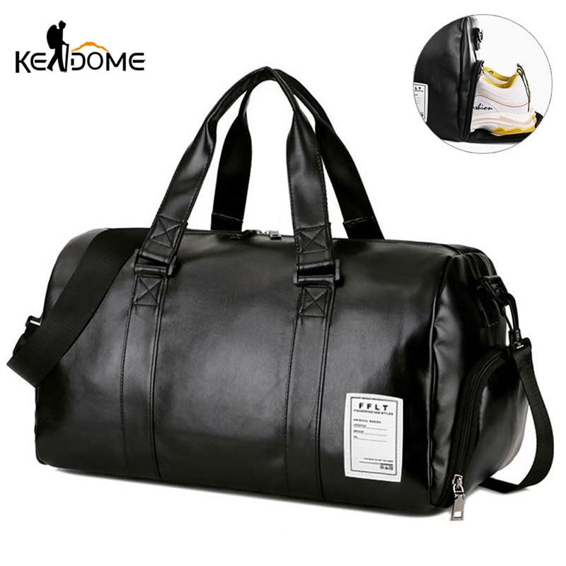 Gym Bag Leather Sports Bags Dry Wet Bags Men Training for Shoes Fitness Yoga Travel Luggage Shoulder Sac De Sport Bag XA512WD