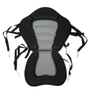 Kayak Padded Seat Rowing Boat Soft Non-Slip Padded Base Adjustable Backrest With Boat Cushion