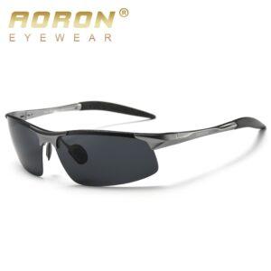 AORON Driving Polaroid Sun Glasses Aluminum Frame Sports Sunglasses Men Polarized Driver Retro UV400 Anti-glare Goggles
