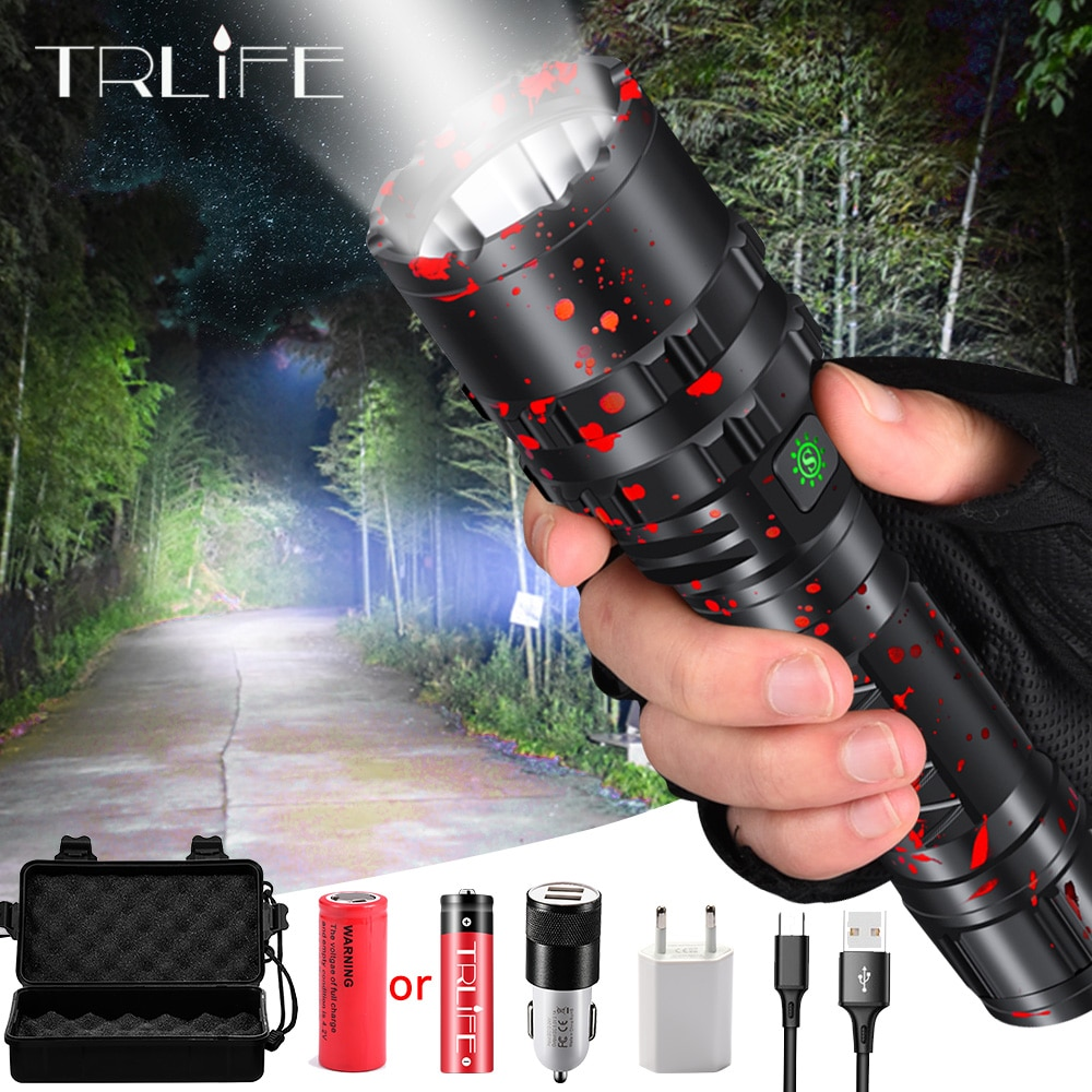 High Power XHP50.2 LED Flashlight Xlamp Aluminum Hunting L2 Waterproof Torch Light Powerful Lanterna Use 18650 26650 Battery