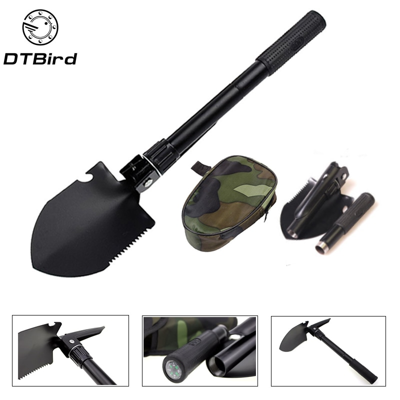 Garden Tools Military Portable Folding Shovel Multifunction Stainless Steel Survival Spade Trowel Camping Outdoor Cleaning Tool