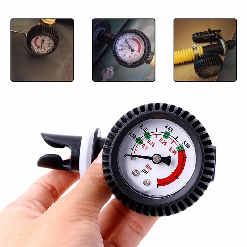 Inflatable Boat Pressure Gauge Air Thermometer Kayak Test Air Pressure Valve Connector Stand Up Paddle Board Surfing