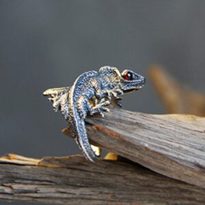 Adjustable Lizard Ring Cabrite Gecko Chameleon Anole Jewelry Free Size gift idea free ship