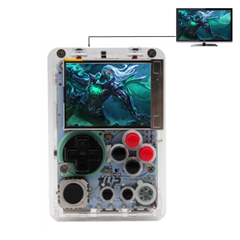 New DIY Mini Video Game Console 2.2 Inch HD LCD Screen Raspberry Pi 3B+/3B Handheld Game Player Built-in More 10000 Retro Games