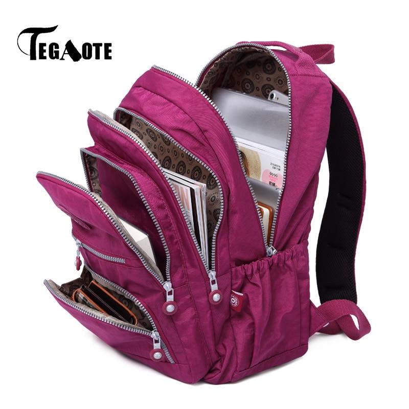TEGAOTE Bolsa Mochila Feminina Women Backpack School Bag for Teenage Girls Nylon Casual Laptop Bagpack Travel Back Pack Kid 2020