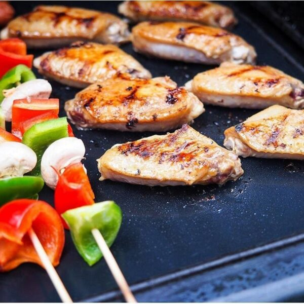 0.25mm BBQ Grill Mat Set, 100% Non-stick Baking Mats - Works on Gas, Charcoal, Electric Grill and More - Barbecue Tools