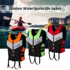 Neoprene Life Jacket Watersports Fishing Kayaking Boating Swimming Safety Life Vest Water Sports Survival Jacket Life Vest black