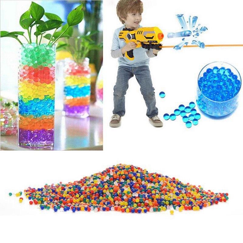 Crystal Soil Water Beads Hydrogel Gel Polymer Seeds Flow Mud Grow Ball Beads Orbiz Growing Bulbs Children Toy Ball