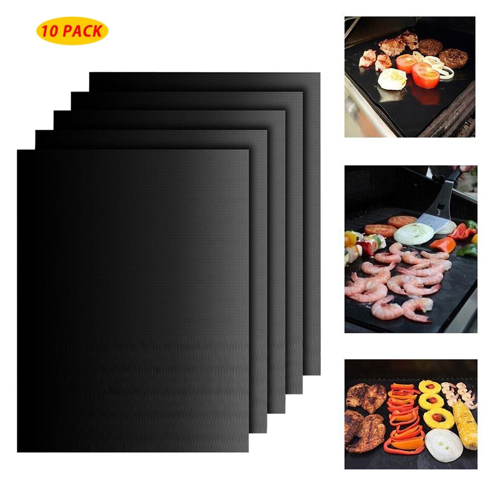 NEW 40*33cm Non-stick BBQ Grill Mat Baking Mat Teflon Cook Grilling Sheet Heat Resistance Easily Cleaned Reusable Kitchen Tool