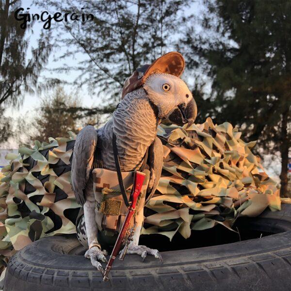 Gingerain Bird clothes Parrot diaper Green bulletproof vest original hand-made custom bird diaper Green bulletproof vest