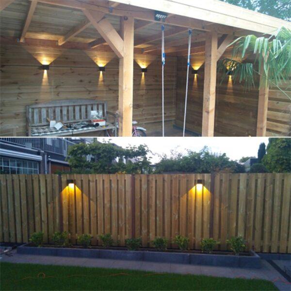 6W/10W LED Wall Light Outdoor Waterproof IP65 Porch Garden Wall Lamp & Indoor Bedroom Bedside Decoration Lighting Lamp Aluminum