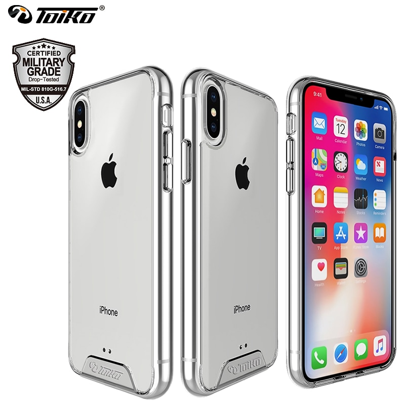 TOIKO Chiron Clear Hybrid PC TPU Back Cover for iPhone X XS MAX XR Shockproof Protection Bumper Shell iPhone 11 Pro Armor Cases