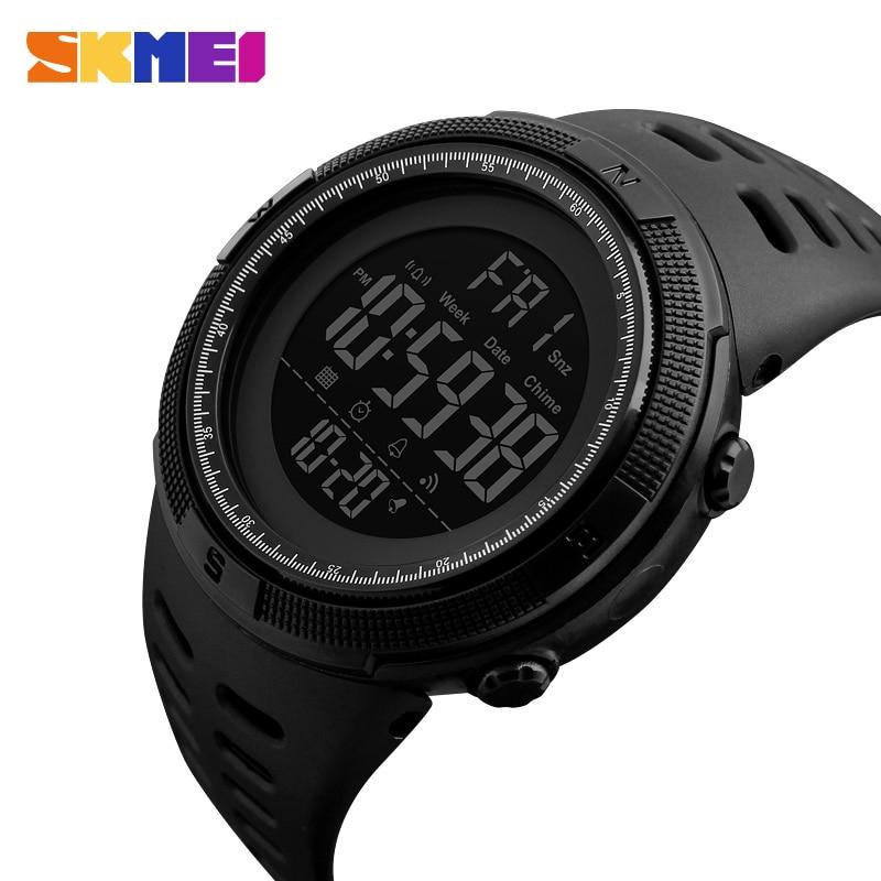 SKMEI Fashion Outdoor Sport Watch Men Multifunction Watches Alarm Clock Chrono 5Bar Waterproof Digital Watch reloj hombre 1251