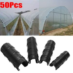 50pcs Shade Sails Clamp Greenhouse Frame Pipe Tube Clip Film Net Shade Sails Clamp 19mm/22mm/25mm/32mm Garden Tools