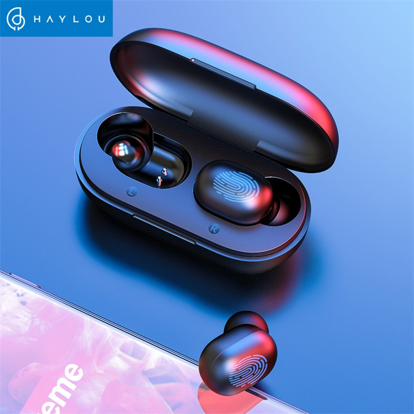 Haylou GT1 TWS Fingerprint Touch Bluetooth Earphones, HD Stereo Wireless Headphones,Noise Cancelling Gaming Headset