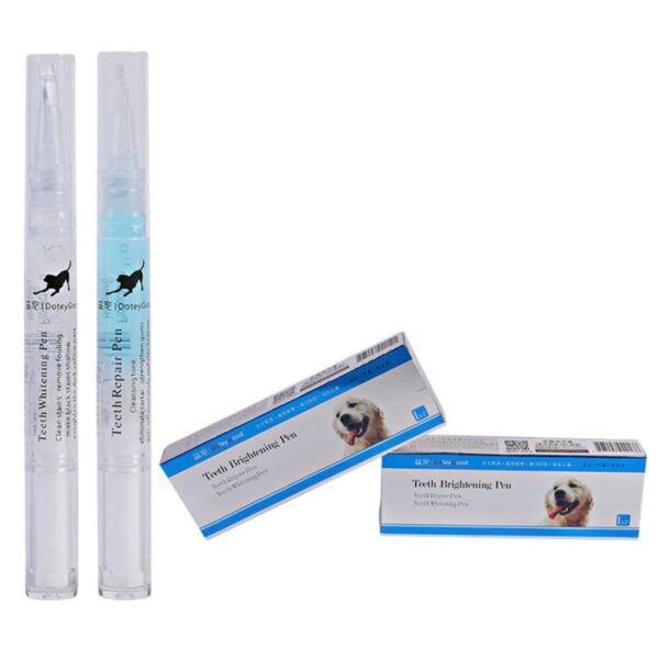 3/5ml Pets Dog Grooming Whitening Pen Teeth Cleaning Kit Pen Dogs Cats Natural Plants Tartar Dental Remover Tool