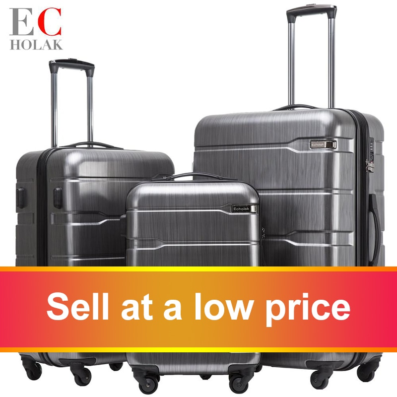 3 Piece Set Suitcases 20in 24in 28in Luggage Suitcase Rolling Bags on Wheels Wheeled Suitcase Trolley