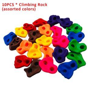 10pcs Hand Feet Holds Indoor Outdoor Backyard Toys Assorted Children Playground Grip Climbing Rock Set Kids Wall Stones Plastic